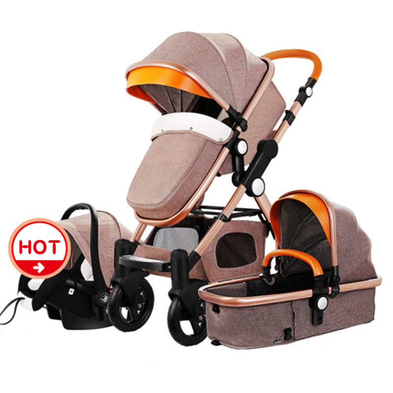 4 in1 baby strollers folding baby car aluminium alloy frame high quality baby stroller gold baby lightweight strollers aiqi ultra light white frame good quality baby stroller baby umbrellacar boarding stroller accessories