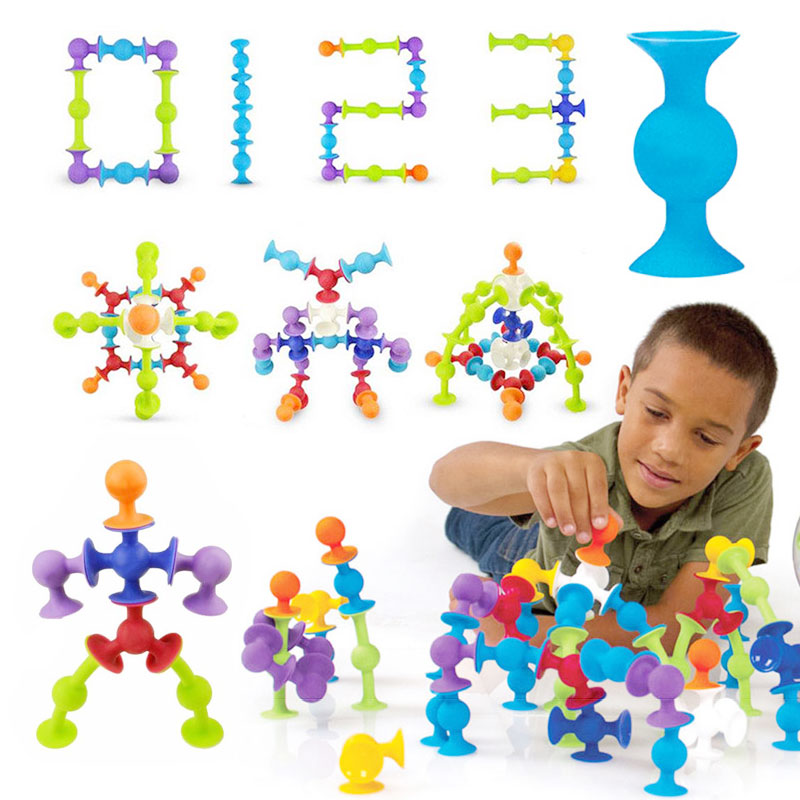 Squigz Sucker Cup Toys Building Puzzle Intellectual Development Silicone
