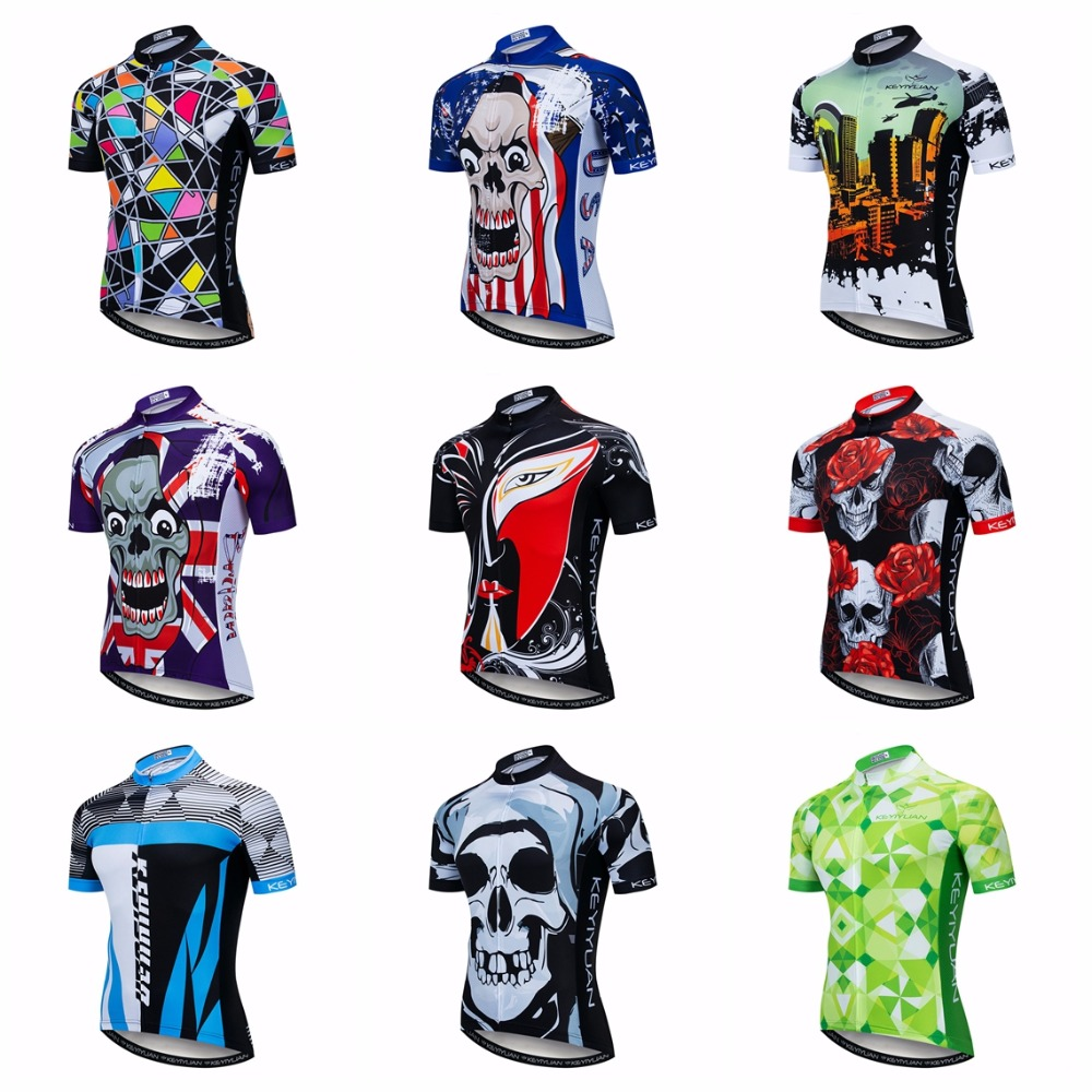 Bike Jersey Mtb Shirts Top-Racing Skull Team-Maillot Ciclismo Pro Red Men Bicycle Men's