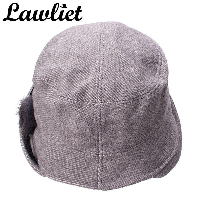 57112de464c Lawliet Women Wool Hats Autumn Winter Fleece Hat 1920s Cloche Bucket Hats  Wide Brim UV Protective Sun Hat Ladies Travel Cap-in Bucket Hats from  Apparel ...