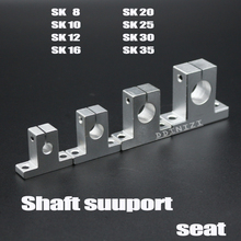 Rail-Shaft Support Table Linear-Bearing SK12 8mm CNC Router SK8 SK10 SK16 SK20 SK25 4pcs/Lot