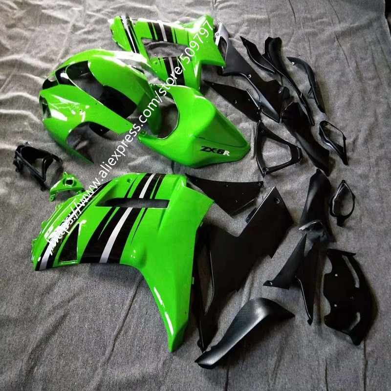 Latest Fashion green black full Fairing for KAWASAKI ZX6R 07 08 ZX-6R 2007-2008 ZX 6R 636 07 08 6R 2007 2008 body kit
