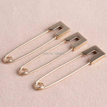 5pcs /lot  80mm gold color large metal Safety Pins Brooch decoration for garment
