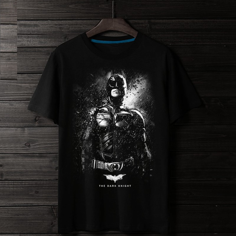 2018 Hot Batman The Dark Knight Rises 3D Print 100% Cotton Men T-shirt Quality Fashion Homme Christian Bale Fans Suit Costume