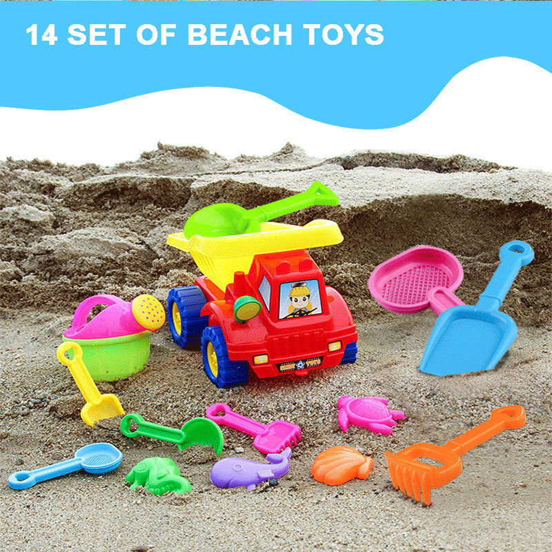 Beach/sand Toys Kids Simulate Car Shovel Kettle Rake Toys Set For Outdoor Beach Sand Playing Toys & Hobbies