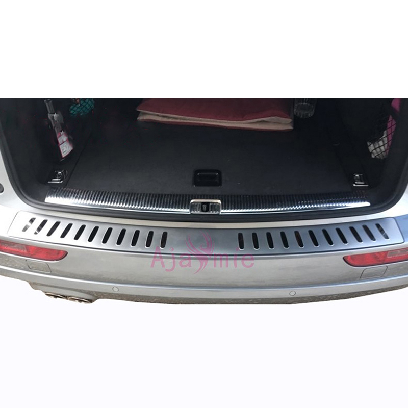 Image 5 - 2009 2016 Rear Bumper Protector Trunk Door Sill Trim Mirror Surface Stainless Steel Chrome Car Styling For Audi Q5 Accessories-in Chromium Styling from Automobiles & Motorcycles