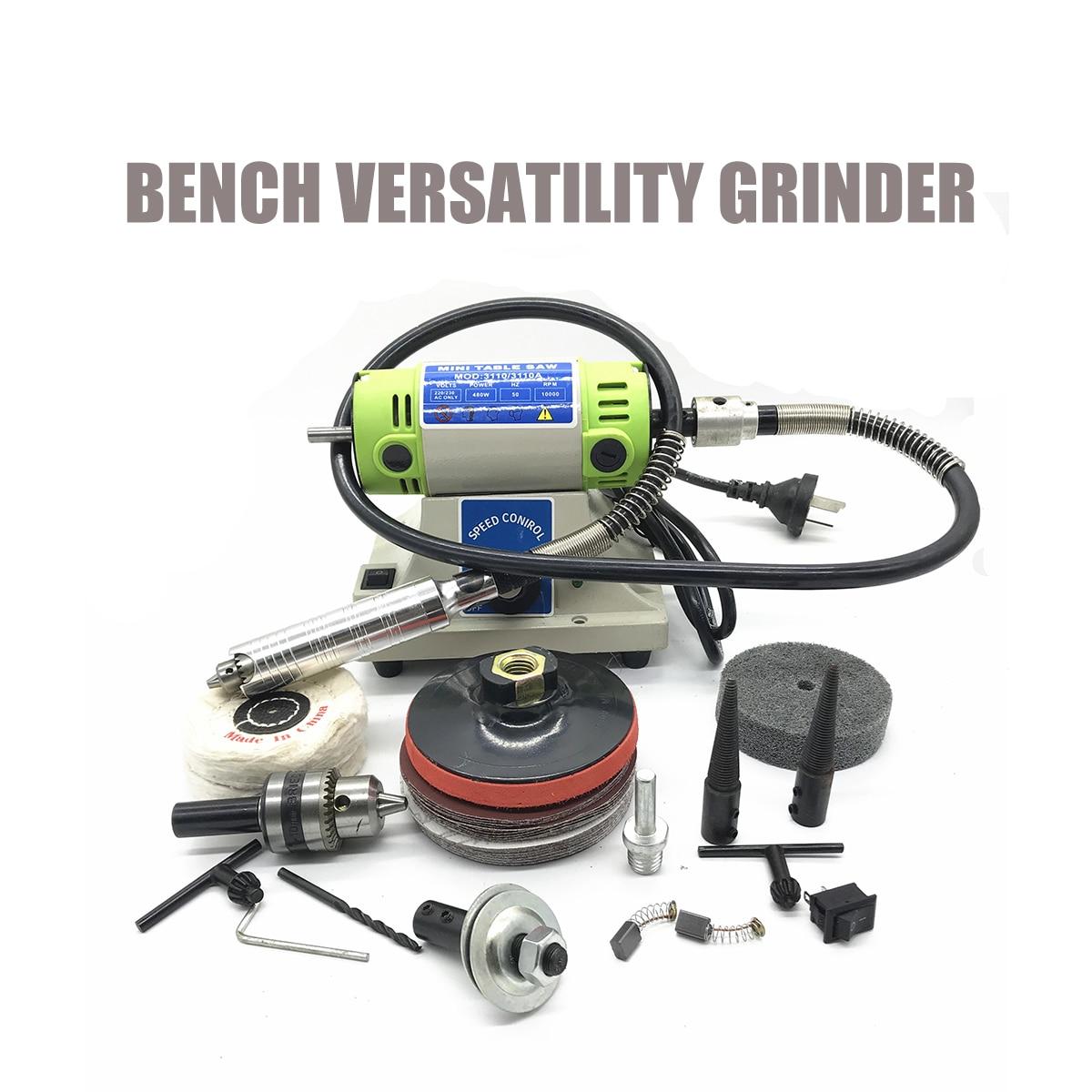 Mini banco moedor de versatilidade elétrica máquina moagem 4mm chuck ferramenta rotativa velocidade variável com tubo flexível ferramentas elétricas