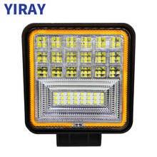 цена на YIRAY LED 126W Work Light Bar For Off Road Truck Boat Jeep 4x4 SUV ATV UAZ Bus Car Lamp weketor 3000K 6000k 12V Car Accessories