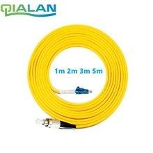 Cable de conexión de fibra óptica de 15 m LC UPC a FC PC Cable óptico G657A puente óptico Cable de fibra simple 2,0mm PVC LC FC conector