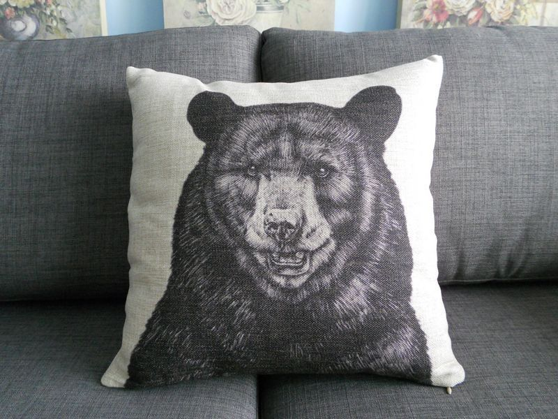 Aliexpress Com Buy Vintage Animal Pattern Cushion Cover