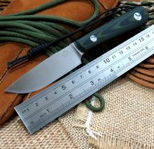 Custom High Quality Tool Knives Bolte KYDEX Sheath tactical camping hunting diving knife D2 steel blade Green G10 handle