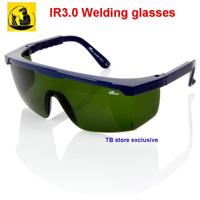 AL026 IR3.0 Welding Glasses Specialty 3.0 Ultraviolet Infrared Protective Glasses Welding Gas Cutting Polished  Welding  Goggles