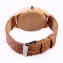 New Arrival Men's Wristwatch Natural Maple Wooden Watches Real Genuine Leather Band Japan MIYOTA Movement Wood Watch Women