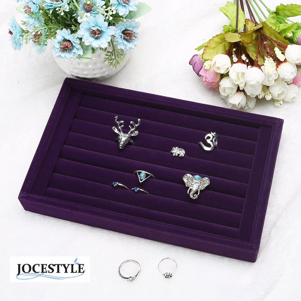 Fashion Suede Stud Earrings Ring Jewelry Display Organizer Jewelry Box Case Jewelry Casket  Rack for Ring Earring caja HOT SALE