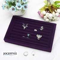 Pendientes de gamuza de moda anillo organizador de exhibición de Joyas estuche para joyería estante de ataúd de joyería para anillo pendiente caja Gran oferta