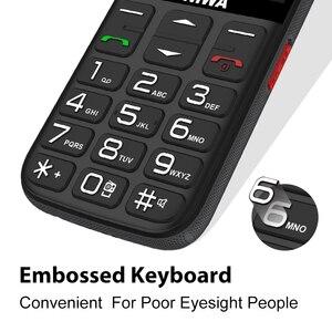 Image 3 - UNIWA V808G Mobile Phone Russian Keyboard 3G WCDMA Phone Strong Torch Senior Cellphone Elderly Big SOS Push Button Phone Old Man