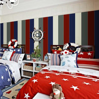 Green Vertical Red Striped Mural Wallpaper For Walls 3 D Contact Paper Wall Paper Roll Home