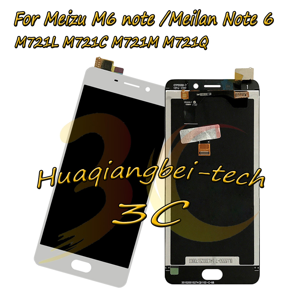 New 5.5 For Meizu M6 note M721L / Meilan Note 6 M721C M721M M721Q Full LCD DIsplay + Touch Screen Digitizer Assembly Tracking