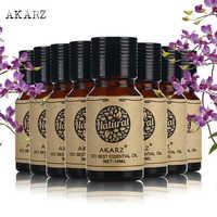 AKARZ do pielęgnacji skóry twarzy wartości zestawy lotosu +; nutami bazy są paczula + rycynowy + arganowy + Frangipani + piżmo + Rose + olejki eteryczne z drzewa herbacianego 10 ml * 8