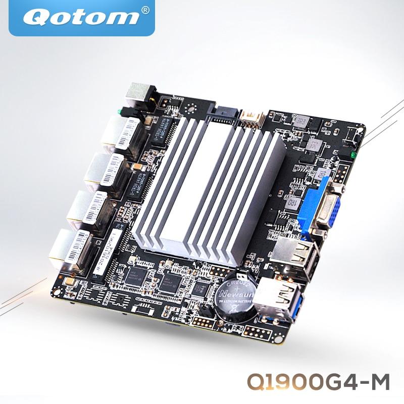 QOTOM 4 LAN Mini ITX Motherboard Q1900G4-M With BayTail J1900 Processor And 4 Gigabit NIC, Quad Core Motherboard PFSense Router
