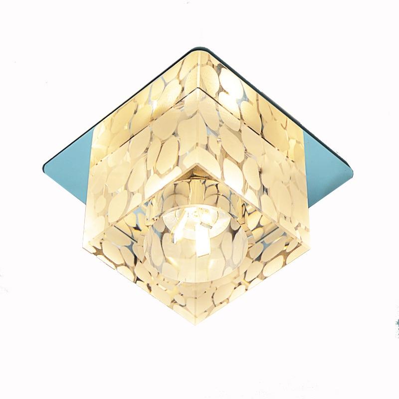 LED Moderní čtvercové křišťálové vodní krychle Stropní lampy Chodba na strop Stropní světlo Veranda Balkon Stropní osvětlení Svítidlo