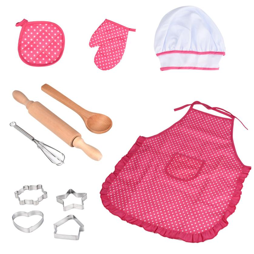 HIINST-Kids-Cooking-And-Baking-Set-11pcs-Kitchen-Costume-Role-Play-Kits-Apron-Hat-funny-toy (4)