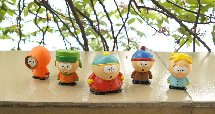 50 Pcs/Lot South Park Figures Anime Stan Kyle Eric Kenny Leopard PVC Classic Toys For Kids Gift Free Shipping