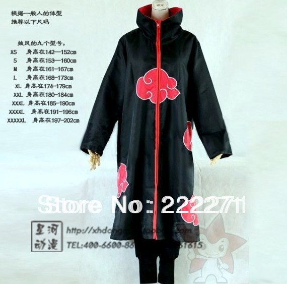font b NARUTO b font Akatsuki Deidara font b Cosplay b font Cloak Clothing Costume