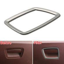 BBQ@FUKA 1PC Stainless Steel Storage Box Handle Frame Cover Trim Sticker Fit For BMW 7 Series 730Li 740Li 750Li F01 F02 2010-15