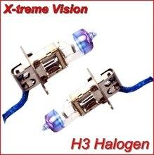 X-treme Видение H3 + 100% Ярче Ксеноновые Фары Автомобиля Лампа Галогенная Свет Комплект 12 В 55 Вт бесплатная доставка AAA
