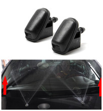 1 pair Car Windshield Wiper Jet Washer Nozzle Fan Shaped Water Spray For Ford Focus 2013 Classic Sprinkler Head
