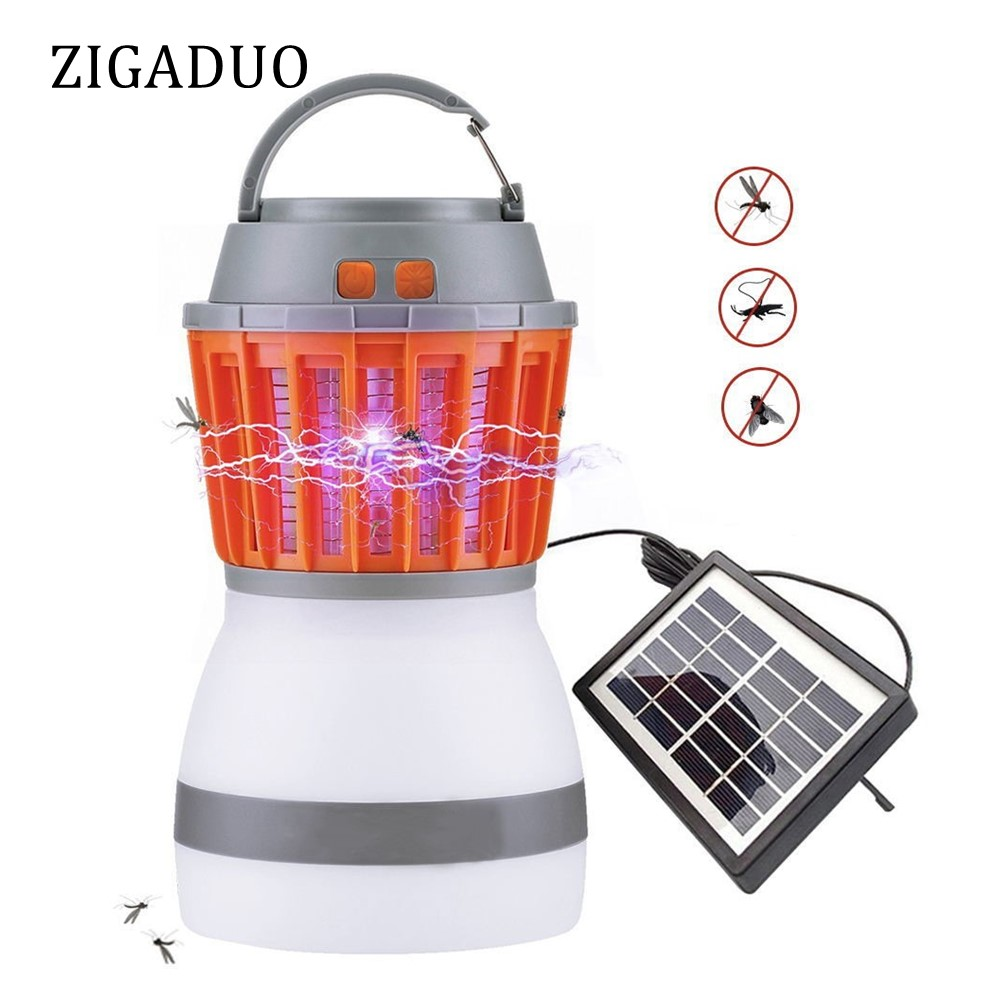 Portable USB Charging&Solar Power LED Camping Light Waterproof Mosquito Killer Lamp Pest Repeller Dimmable Sleeping Night Light mosquito contral lantern camping light usb charging mosquito killer lamp multi purpose pest repeller waterproof bug killer