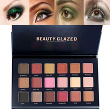 Beauty Glazed Diamond Eyeshadow Powder Women Nude 18 Colors Sexy Waterproof Glitter Eyeshadow Makeup Pallete Eye Cosmetics