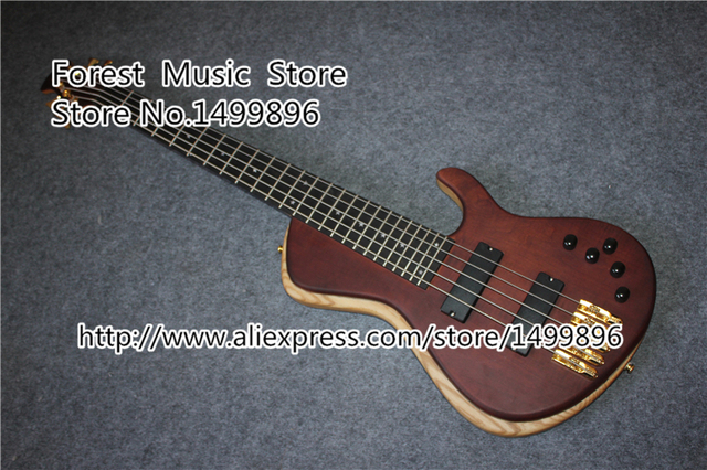 Cheap Custom Shop China Electric Bass Guitar 5 String 24 Frets Ebony Fingerboard Guitar Neck Free Shipping