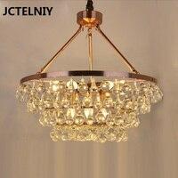Modern water drop crystal chandelier luxury restaurant living room Mediterranean bedroom lamp