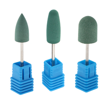 Silicone Nail Drill Bit, Cuticle Cleaner Electric Files Manicure Polisher Grinder Head for Natural and Acrylic Nails