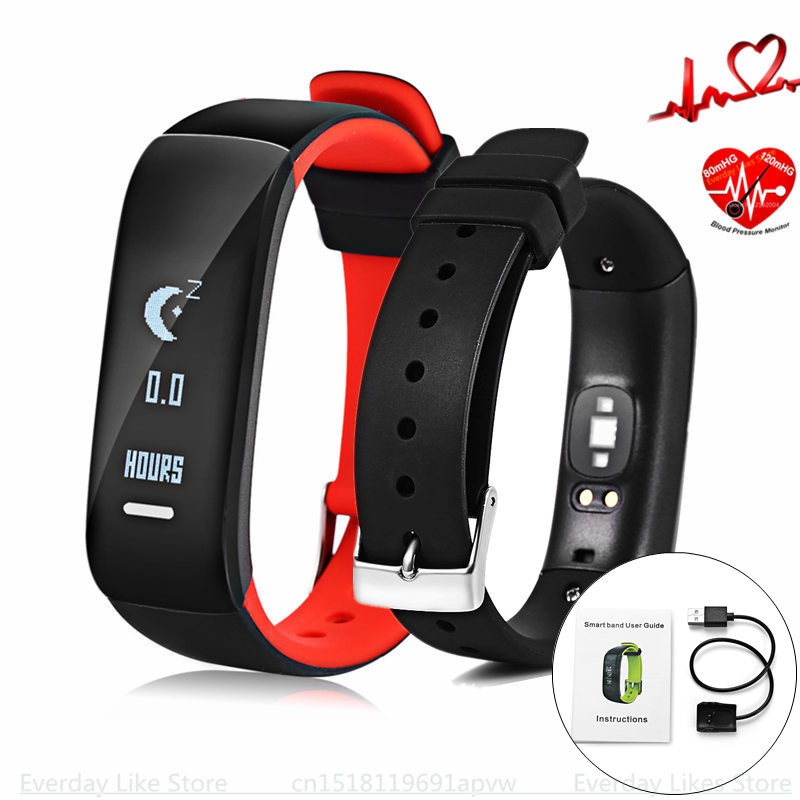 P1 Smartband Watches Blood Pressure Smart Bracelet Heart Rate Monitor Smart Wristband Fitness for Android IOS