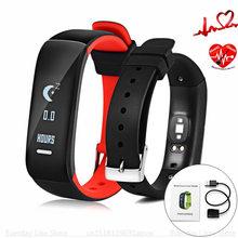 P1 Smartband Часы Артериального Давления Умный Браслет Монитор Сердечного ритма Смарт Браслет Фитнес для Android IOS Телефон Смарт-Группы