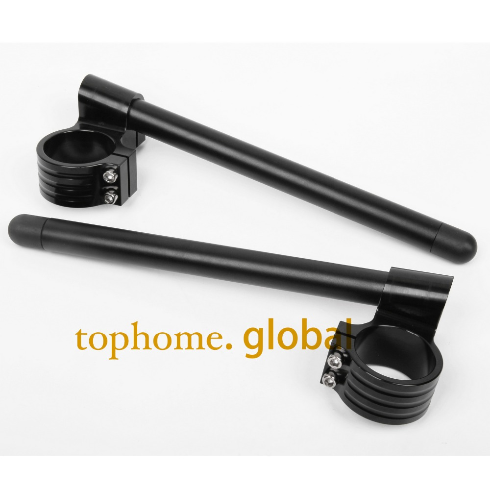 31/33/35/36/37mm 41/43/45/46/48mm 50/51/52/53/54mm Riser High Clip Ons Handle Bar Fork Tube Lift Clip On Black Pair