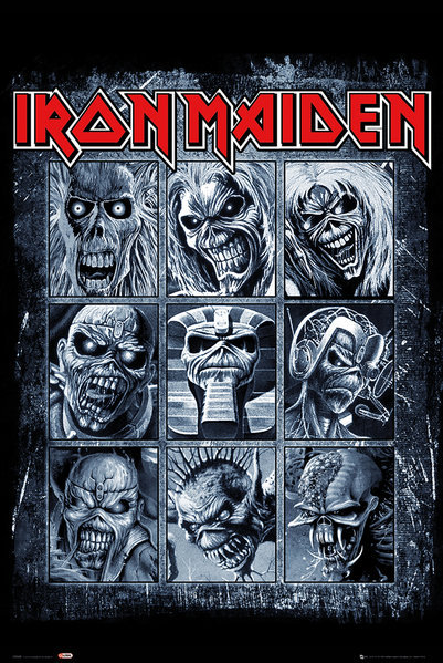 IRON MAIDEN – MUSIC art silk Poster