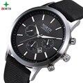 Top Marca de Lujo de Los Hombres Relojes Caja de Reloj de Cuero Genuino Reloj de Cuarzo Ocasional Impermeable Ultra Thin Moda Reloj Deportivo Hombres
