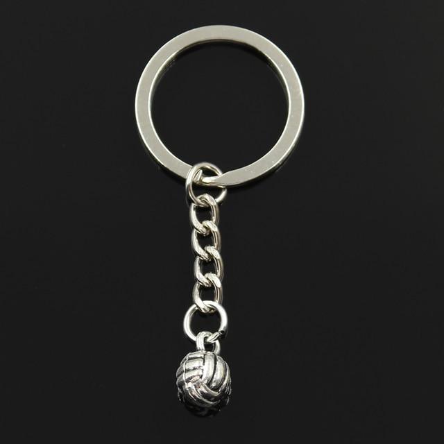 Nuevo llavero de moda 15x10x10mm colgantes de voleibol 3d DIY hombres joyería coche llavero anillo soporte recuerdo regalo