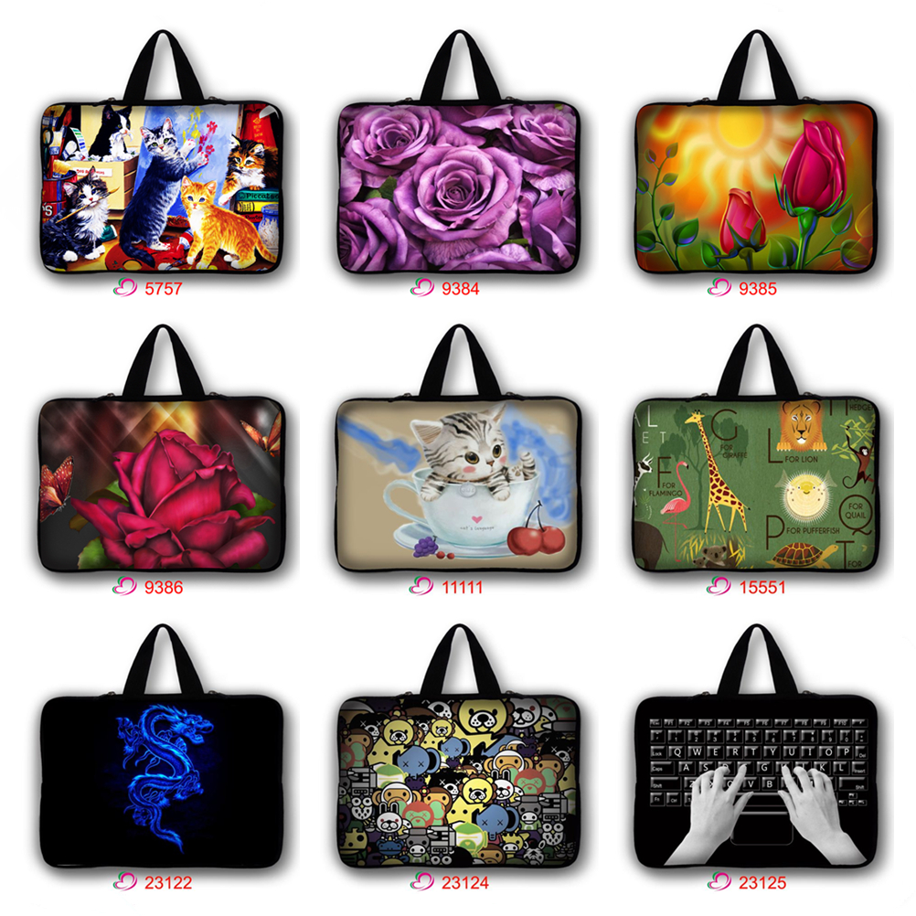 7 10 11.6 13.3 15.4 15.6 17.3 inch Notebook Laptop Sleeve Bag Case Carrying Handle Bag For Macbook Air/Pro/Retina For Asus HP *3