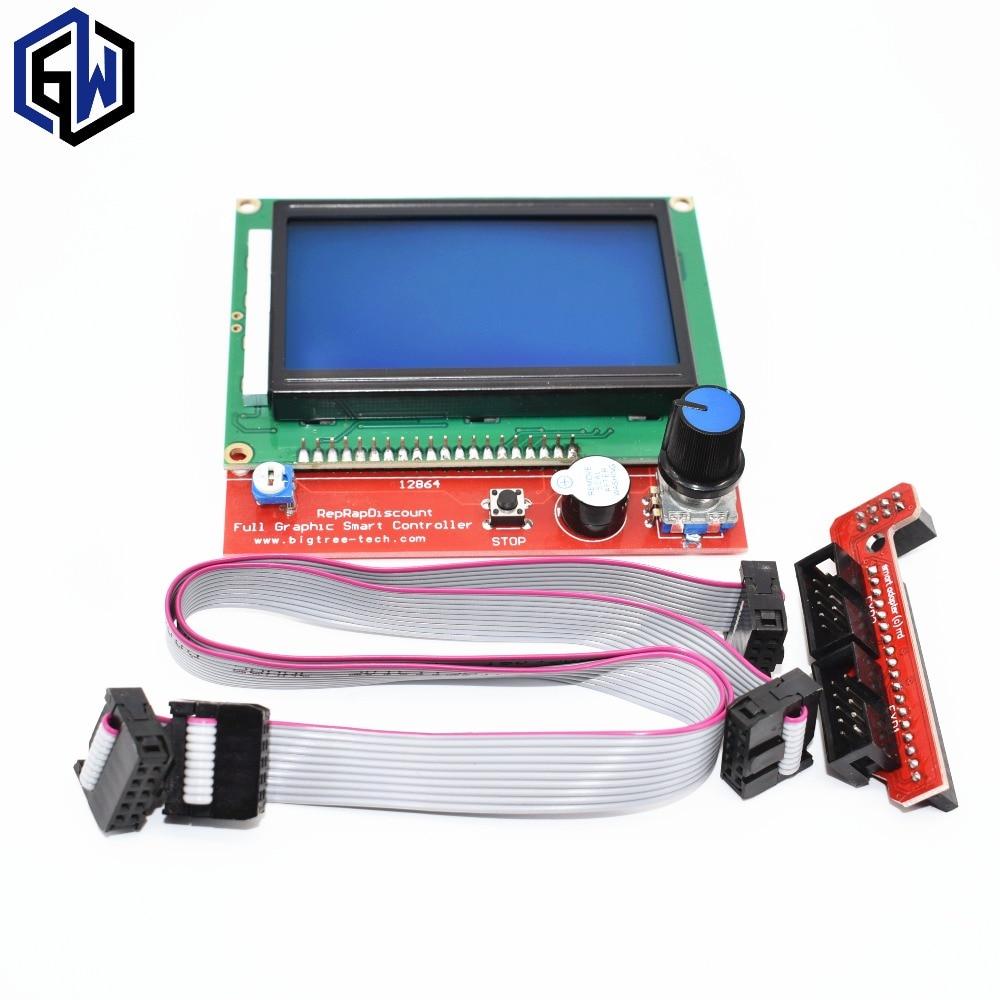 10 pcs TENSTAR ROBOT 3D stampante smart controller RAMPE 1.4 LCD 12864 pannello di controllo LCD schermata blu10 pcs TENSTAR ROBOT 3D stampante smart controller RAMPE 1.4 LCD 12864 pannello di controllo LCD schermata blu