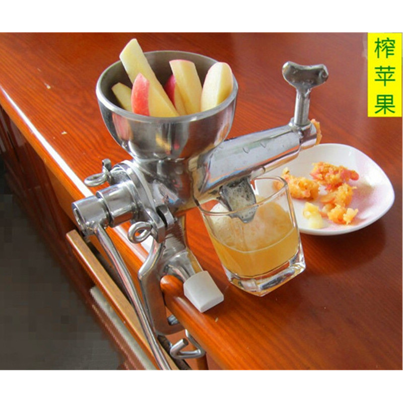 Hand stainless steel wheatgrass manual juicer auger slow squeezer fruits wheat grass vegetable orange juice extractor machine