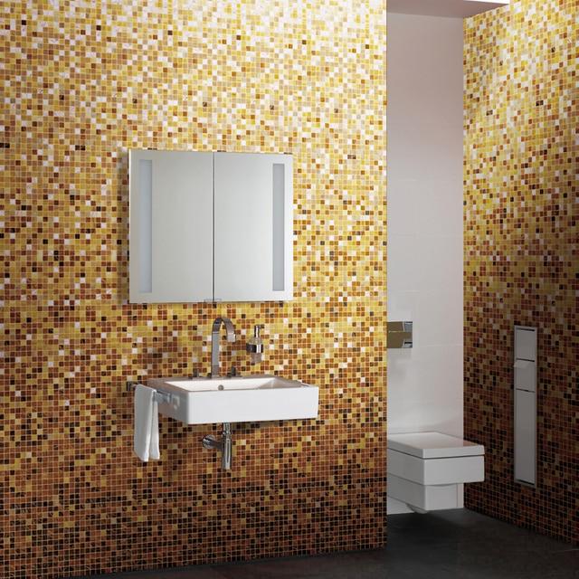Cambiamento graduale Bianco Giallo mattonelle di mosaico MD 2045 ...