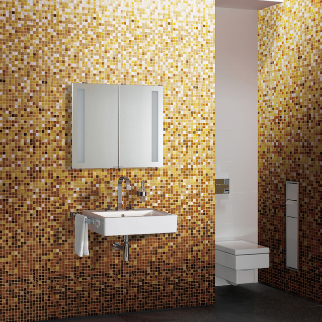 Gradual Changing White Yellow Mosaic Tile MD 2045 Swimming Pool Bathroom  Kitchen Backsplash Decoration Wall