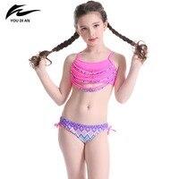 youdian-children-swimwear-girls-bikini-tassel-design-for-cute-girl-plaid-panties-kids-beach-wear-halter-pink-bathing-suit