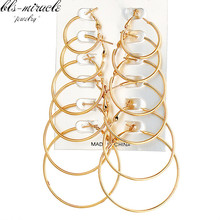 bls-miracle New Fashion jewelry Copper metal mix size  Hoop Earrings best gift for girl Female wholesale E469