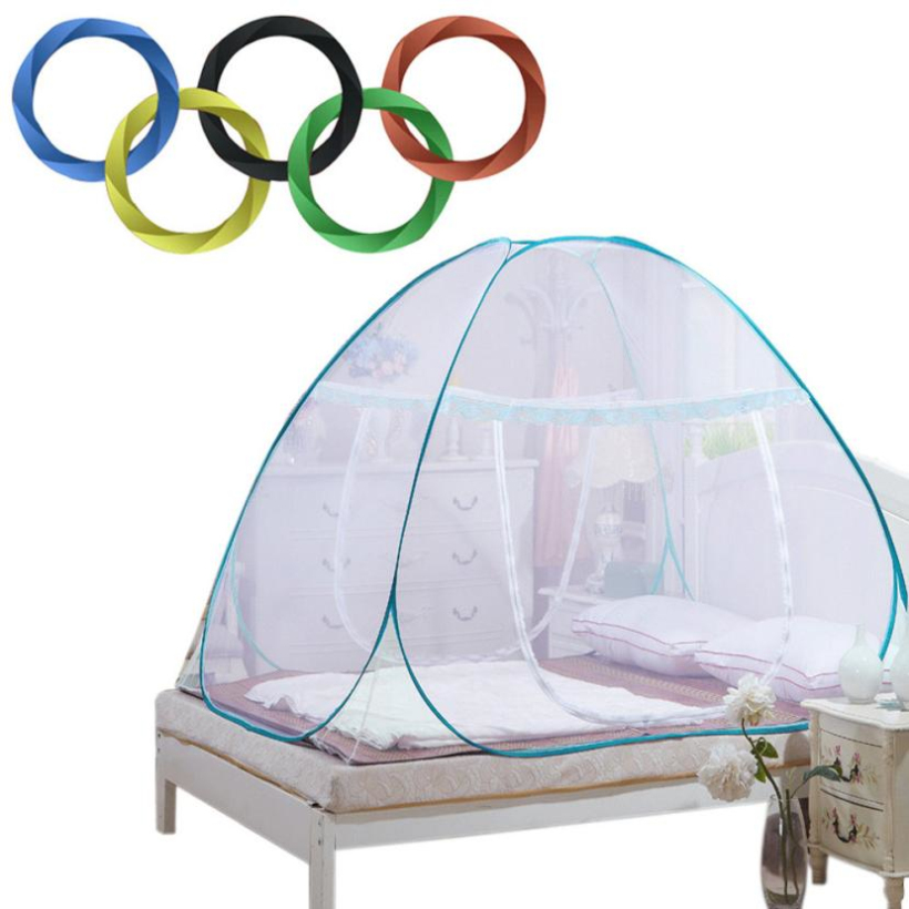 HOT 2016 Mosquito Nets Chinese Athletes secret winning Tricks Keep away insects Summer Folding Mesh Insect Bed Mongolian Yurt
